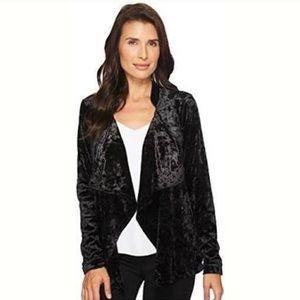 Blank NYC Black Velvet Waterfall Jacket
